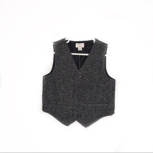 Gymboree 2T gray vest button up NWT